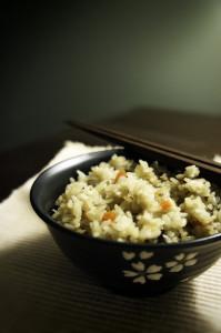 Mushroom, Carrot, and Tofu Rice