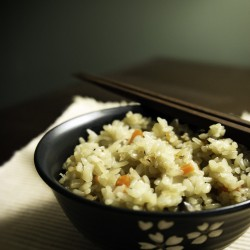 Mushroom, Carrot, and Tofu Rice